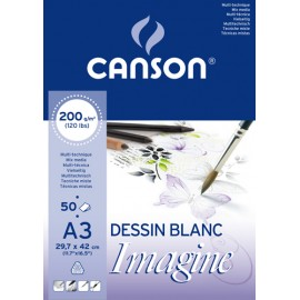 BLOCO CANSON A3 IMAGINE 200GRS