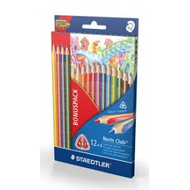 LAPIS DE COR STAEDTLER TRIANGULARES NORIS CLUB 12+4