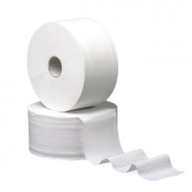 Papel Higienico (Jumbo/Industrial) Cleanspot (Pasta Virgem) 2Fls 90Mts Tubo 60mm (Pack 18)
