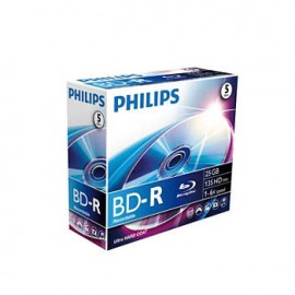 DVD BD R Blu-Ray Philips 25GB 6X Jewell Case 5
