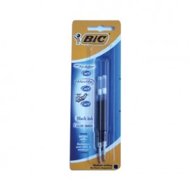 Recarga Esfer. BIC GEL Preto (ReAction/VelocityStic/Pro+)2un