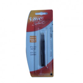 Recarga Esfer. BIC Select Preto (Steel/Widebody/Rondo) 2un