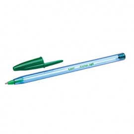 Esferografica Ball Point BIC Cristal Soft verde Cx 50un