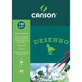BLOCO CANSON A3 DESENHO 120GRS