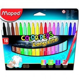 Canetas Feltro Maped Color Peps C/18